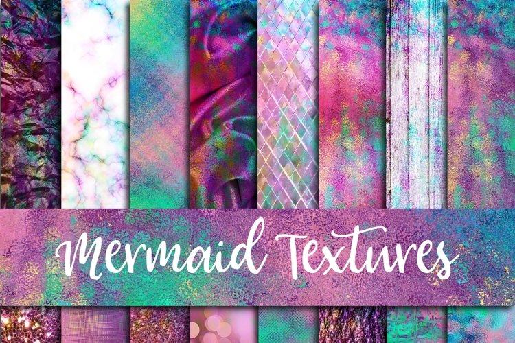 Mermaid Textures Digital Paper - Free Design of The Week Font