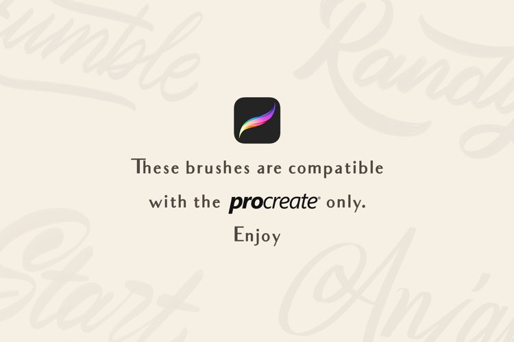 Procreate Lettering Brushes - Free Design of The Week Design2