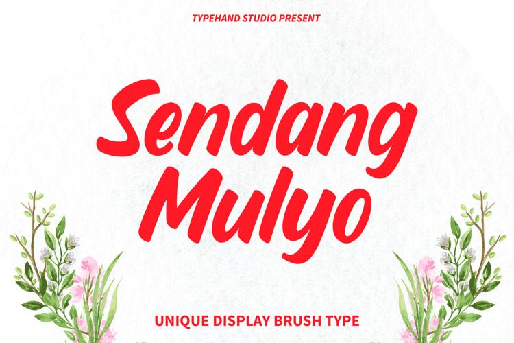 Sendang Mulyo - Brush Display Font example image 1