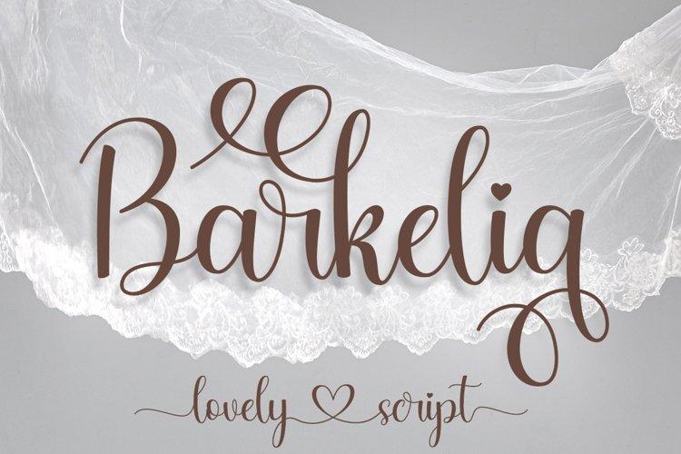 Barkelia Lovely Script example image 1