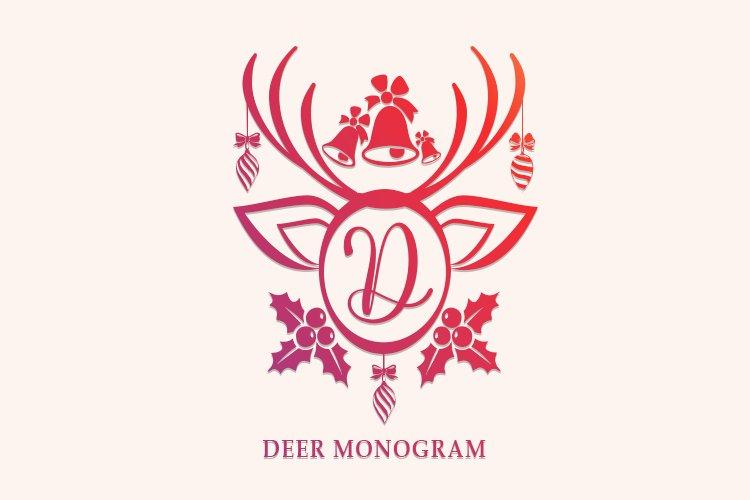 Deer Monogram example image 1