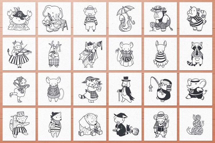 100 Hand Drawn Elements -Animals- example 2