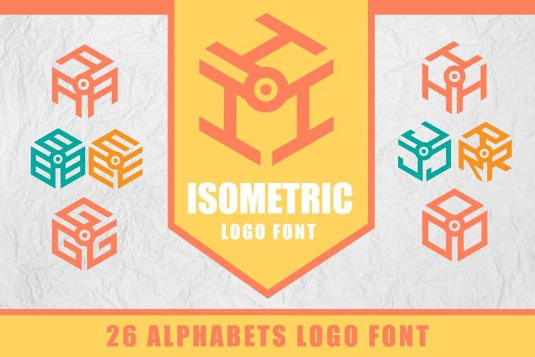3D Isometric Logo Font example image 1