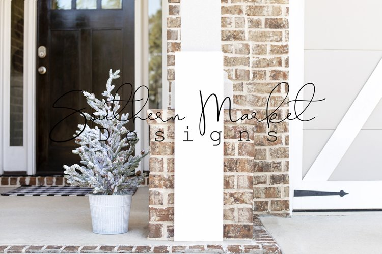 Christmas 3 foot 1x10 Front Porch Wood Sign Real Wood MockUp