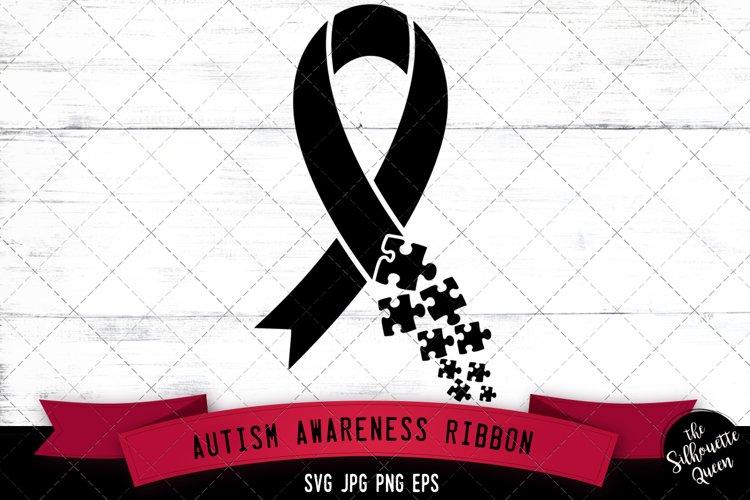 Autism Awareness Ribbon SVG Cut File example image 1
