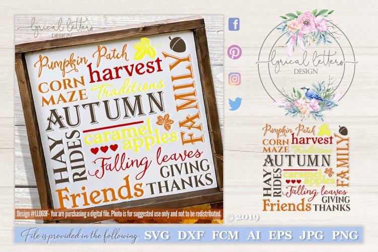 Fall Autumn Subway Art Svg Cut File Ll069f 122134 Cut Files Design Bundles