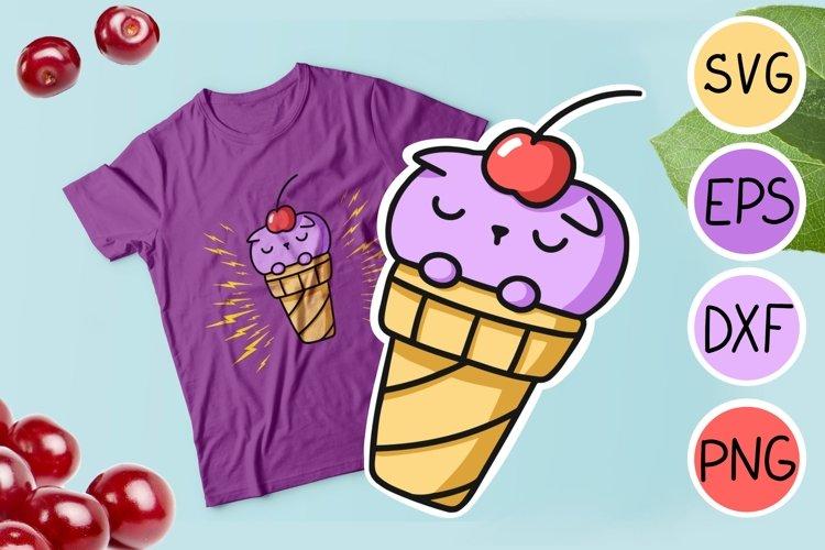 Ice cream cat svg printable