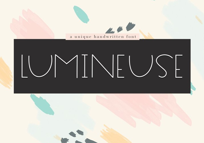 Lumineuse - A Thin Handwritten Font example image 1