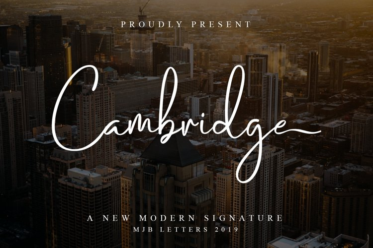 Cambridge Modern Signature example image 1
