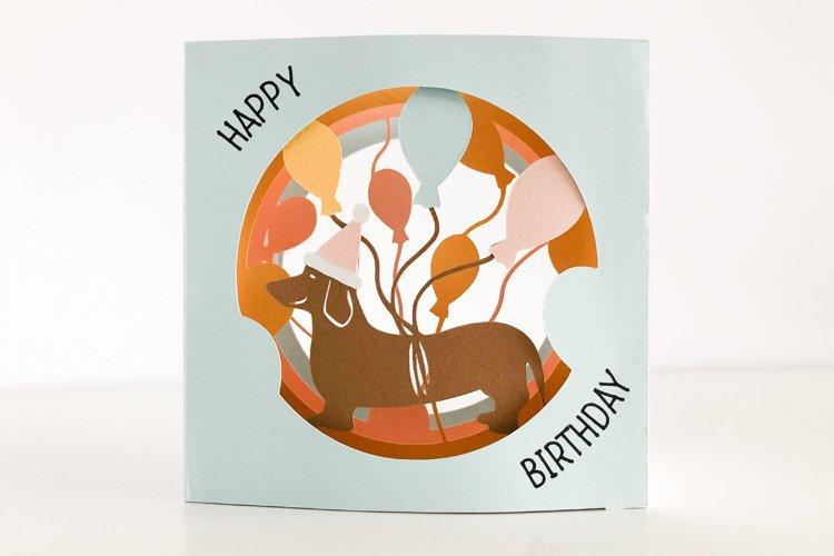 Happy Birthday Shadow Box Tunnel Card, Cricut Joy Compatible
