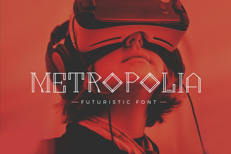 Metropolia - Futuristic font example image 1