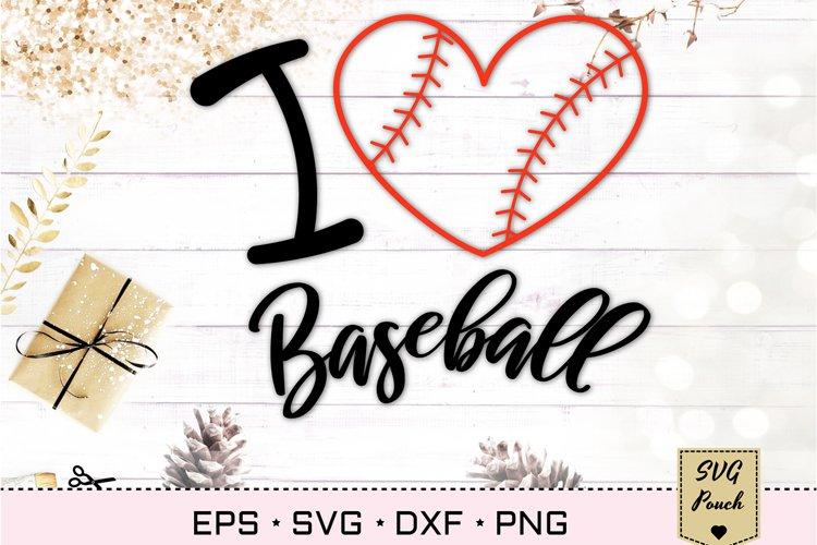 Download I Love Baseball Heart Svg 540335 Cut Files Design Bundles