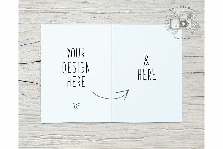 5x7 Greeting Card Mockup Interior - Wedding Invitation Photo