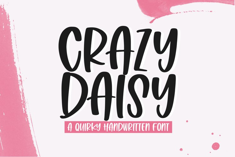 Crazy Daisy - A Quirky Handwritten Font example image 1
