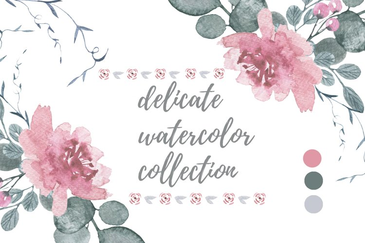 Delicate watercolors collection example image 1