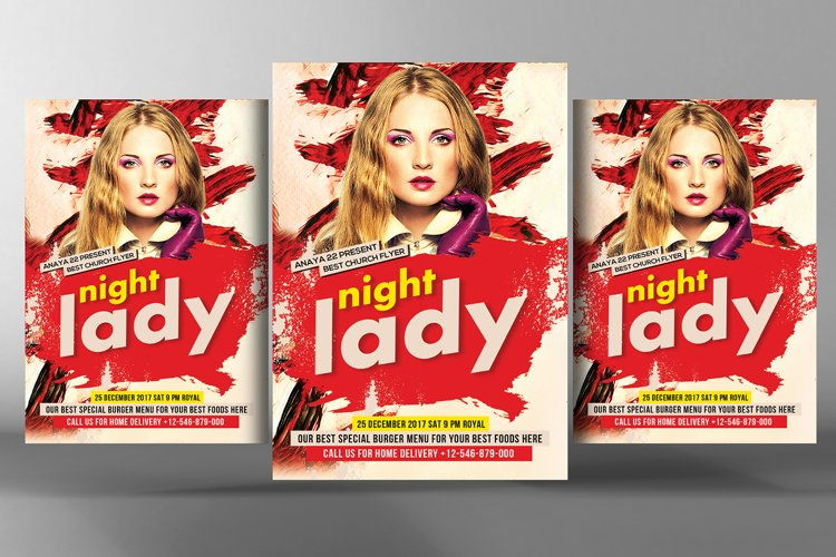 Ladies Night Party Flyer example image 1