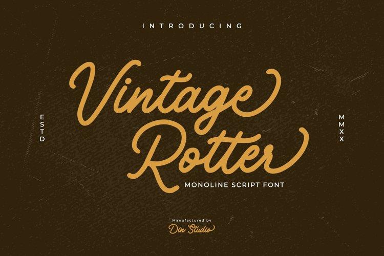 Vintage Rotter-Monoline Script Font example image 1