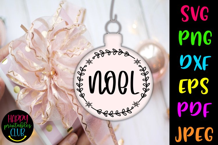 Christmas Round Ornaments SVG- Noel SVG- Holiday SVG example image 1
