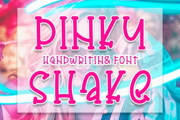 Pinky Shake - Cute Handwritten Font example image 1