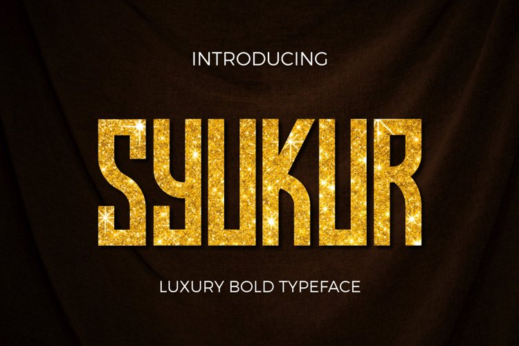 Web Font Syukur example image 1