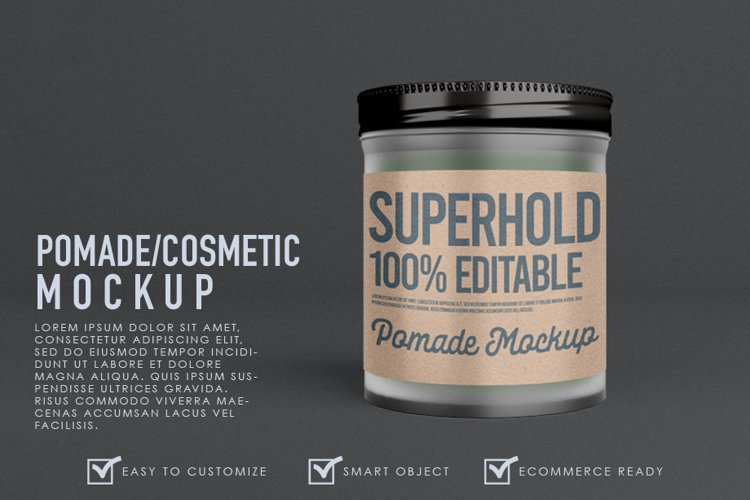Realistic Pomade Jar Container Mockup Template