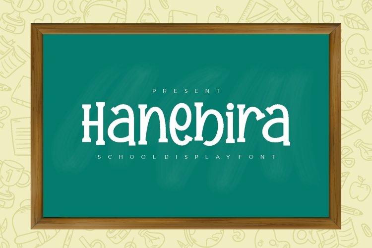 Hanebira - School Display Font