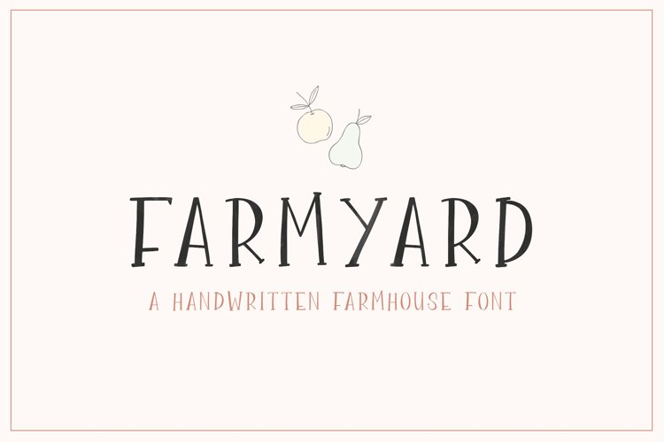Farmyard Font example image 1
