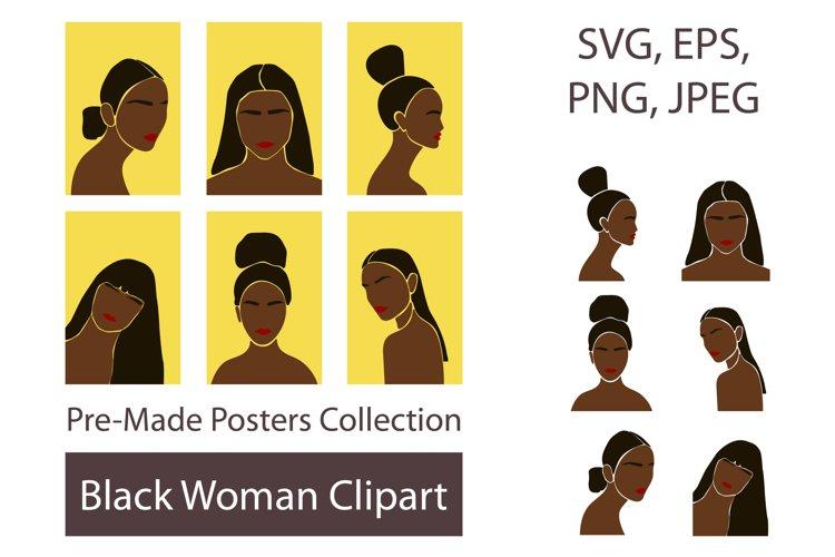 Black Woman SVG Clipart