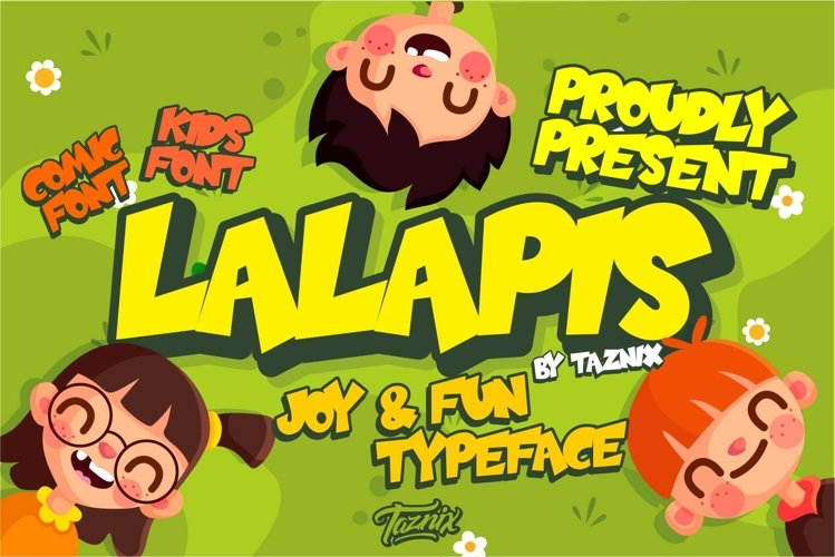 Lalapis Fun Children Typeface example image 1