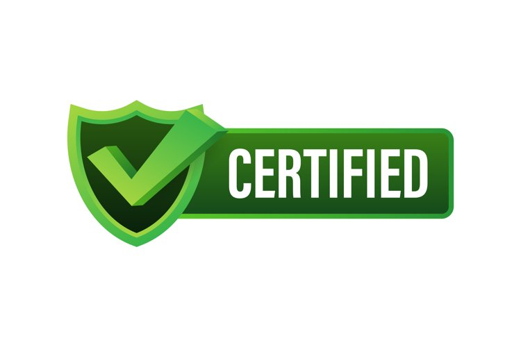Certified label vector isolated on white background. example image 1