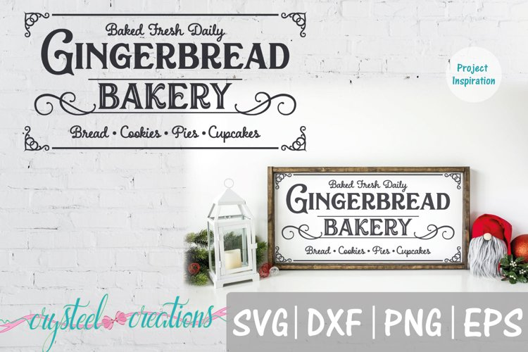 Gingerbread Bakery SVG, DXF, PNG, EPS example image 1