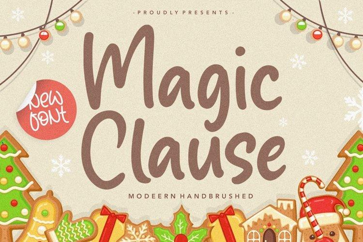 Magic Clause Modern Handbrushed Font example image 1