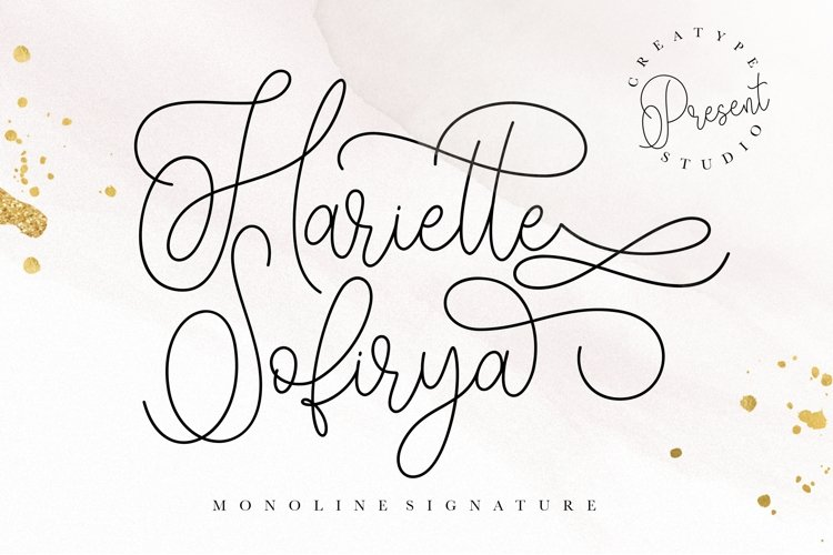 Hariette Sofirya Monoline Signature example image 1
