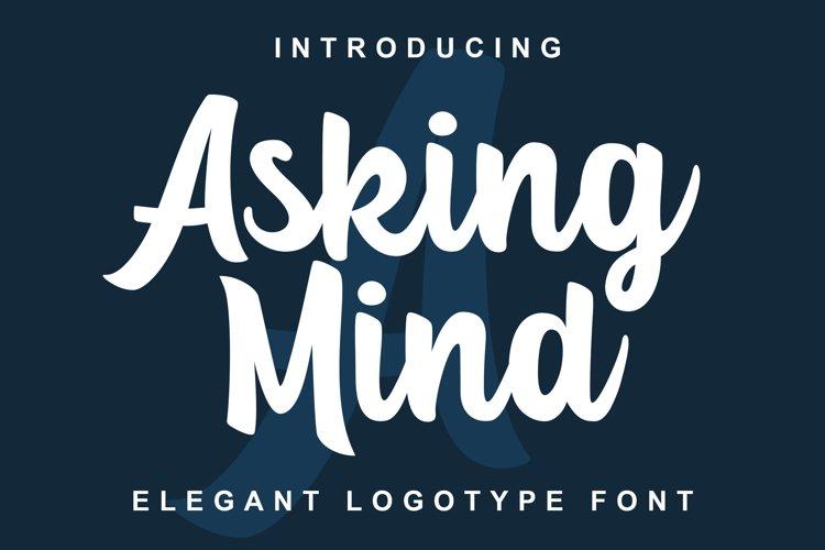 Asking Mind - Logotype Font example image 1