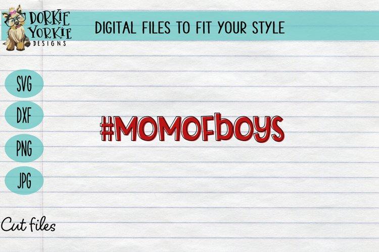 #MomOfBoys - Mom of boys - heart, mom, mob, SVG cut file example image 1