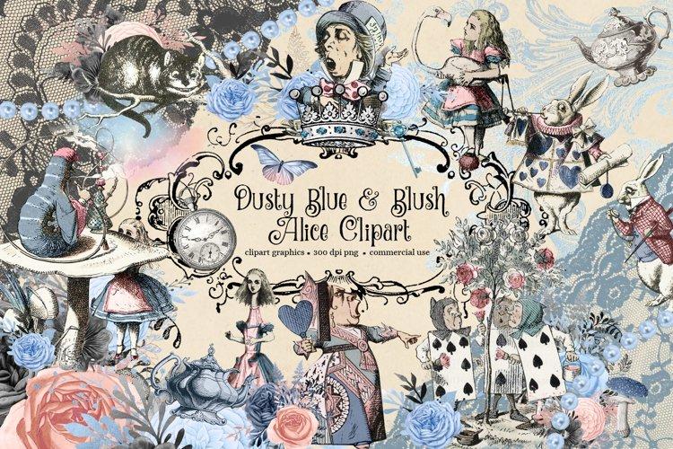Blue and Blush Wonderland Alice In Wonderland Clipart