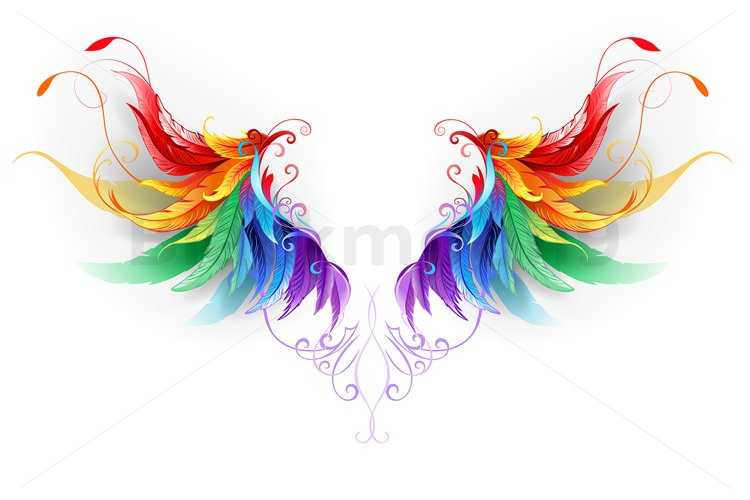 Fluffy Rainbow Wings example image 1