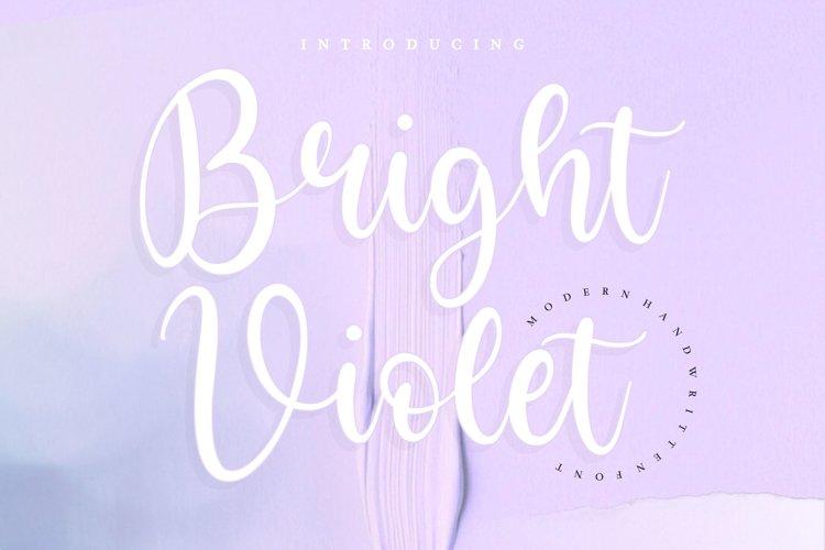 Bright Violet Monoline Handwritten Font example image 1