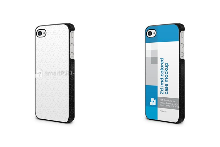 Apple iPhone 4-4s 2d IMD Colored Mobile Case Mockup 2010-11 example image 1