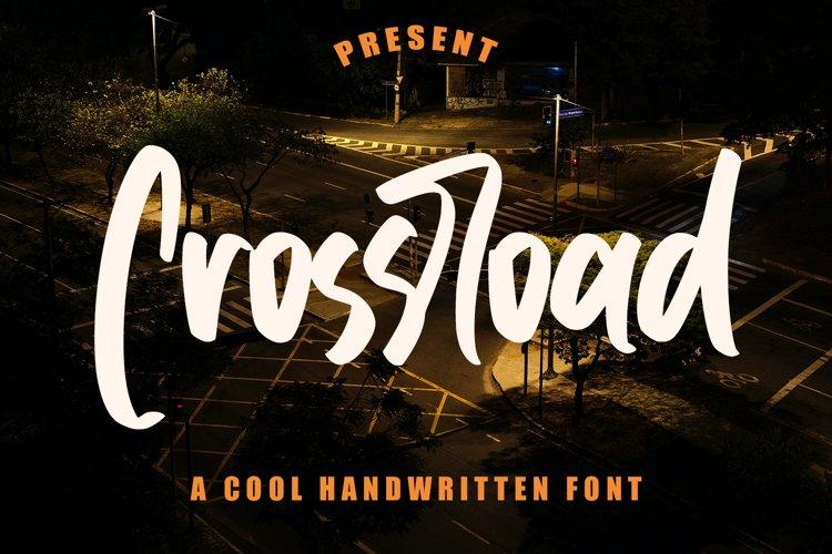 Crossroad - Cool Handwritten Font example image 1