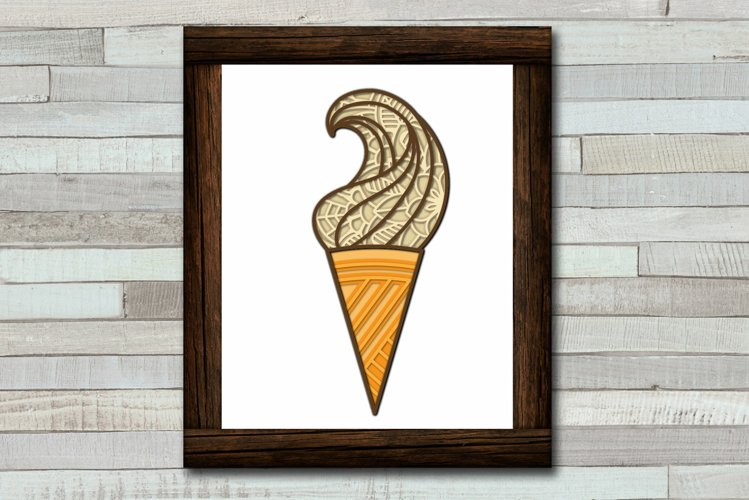 Ice Cream SVG 3d Layered   Summer SVG Cut File example 2