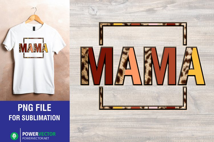 Square Mama Png File for Sublimation
