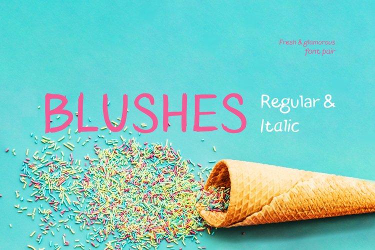 Blushes Regular & Blushes Italic example image 1