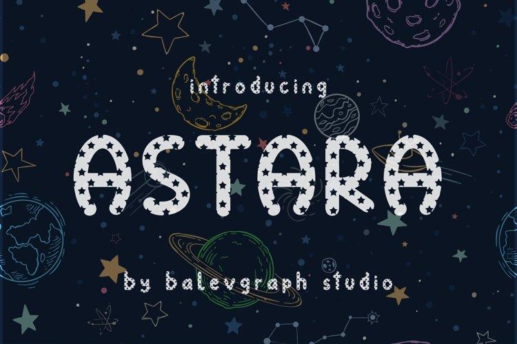 ASTARA FONT example image 1