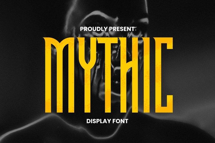 Web Font Mythic Font example image 1