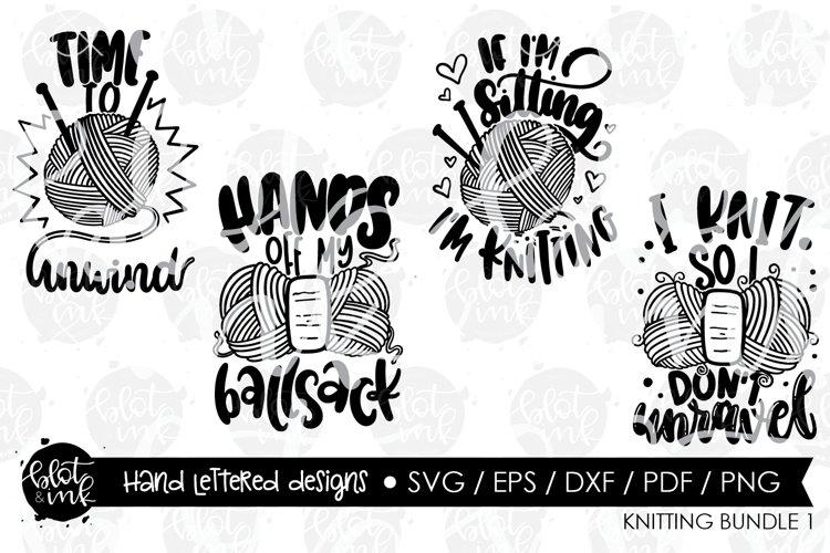 Knitters Craft SVG Bundle - Hand Lettered Designs - Blot & I