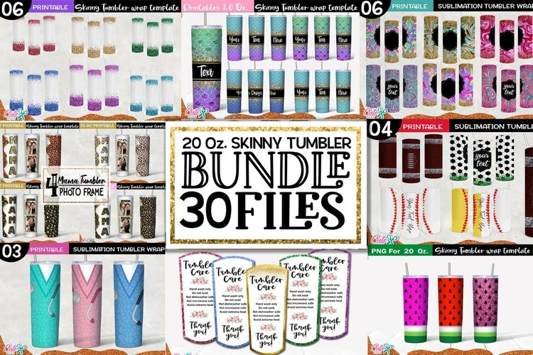 20 Oz. Skinny Tumbler sublimation bundle Vol.1