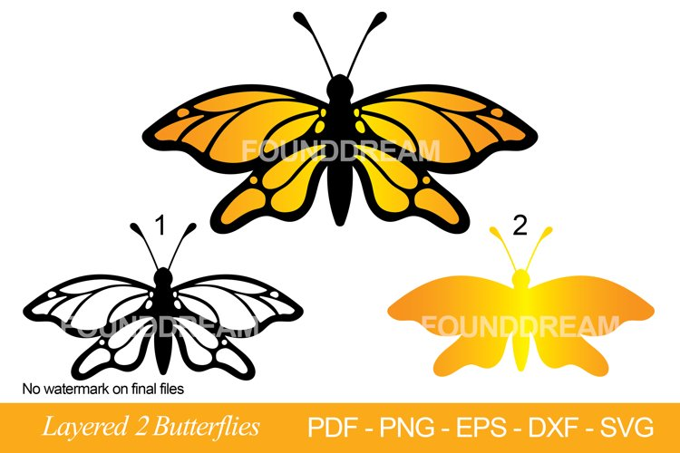 multi layered Butterflies svg cut files