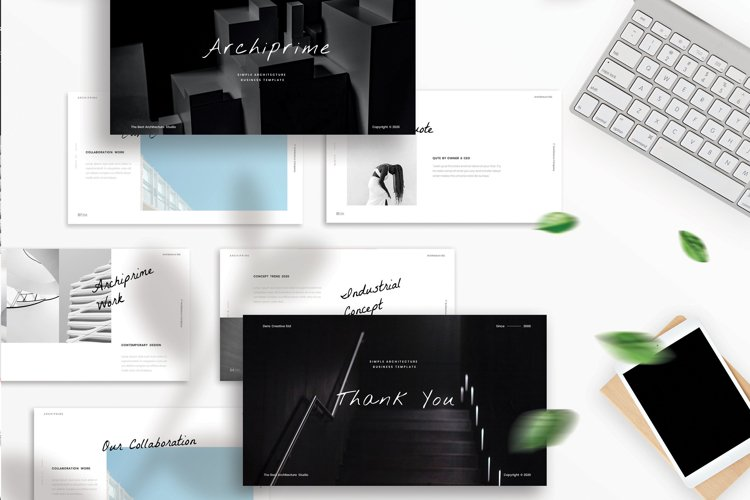 Archiprime - Simple Business Google Slide Template example image 1