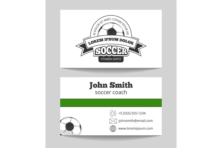 Soccer club business card example image 1